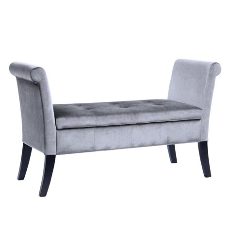 silver storage bench gladiator ready to assemble 19 in h x 54 in w x 18 in d