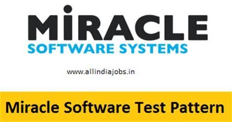 Online Software Testing Jobs Work From Home - miracle software systems test pattern written online
