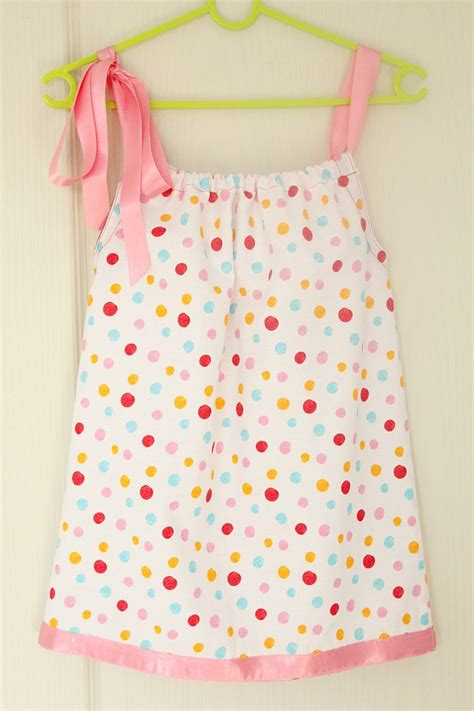 simple pattern for little girl dress basic pillowcase dress sewing tutorial for beginners