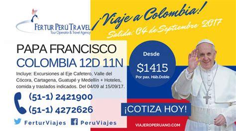 confirman visita papa francisco a colombia en 2017 el heraldo tour visita papa francisco a colombia en septiembre 2017
