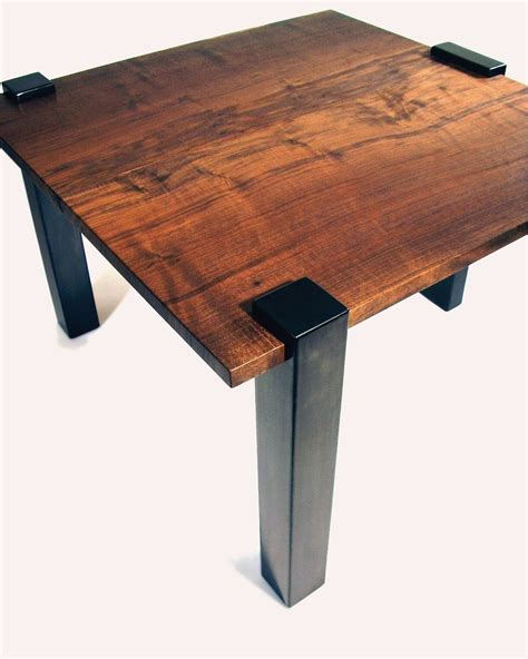 Steel End Table by Crafted Modern Wood And Steel End Table