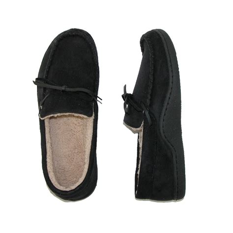 totes isotoner slippers mens microsuede indoor outodoor boater moccasin slippers
