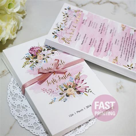 Wedding Invitation Card Printing Cost by Invitation Printing Cheap Bespoke Foil Wedding