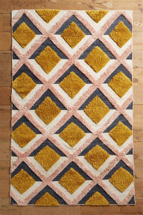 Anthropologie Kitchen Rug Tufted Trellis Rug Anthropologie