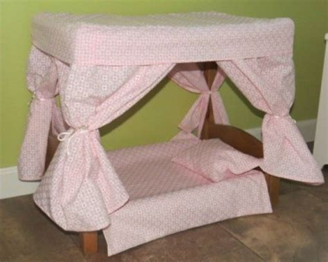 Handmade Canopy Bed - doll canopy bed with bedding amish handmade in oak or