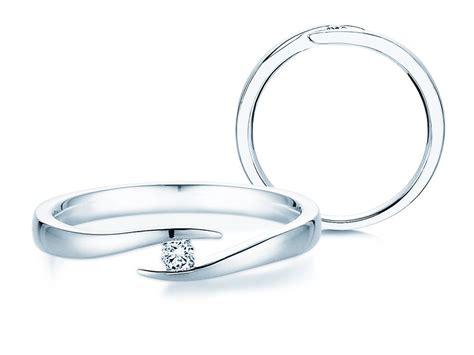 Verlobungsringe Silber Mit Diamant by Verlobungsring Twist In Silber Mit Diamant 0 05ct