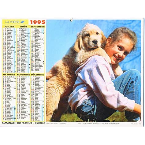 Calendrier De 1995 Calendrier Almanach 1995 Enfants Chiens Et Chats O