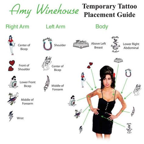 tattoo placement guide amy winehouse rock tattoo and head to toe on pinterest