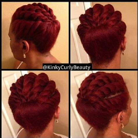 Ways To Bring In Color In An Updo | 10 mod 232 les de flat twists dont s inspirer les afronautes