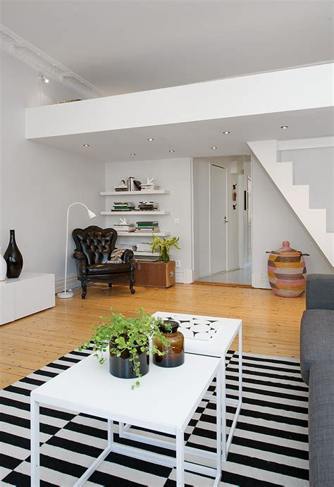 custombuilt small loft apartment in stockholm