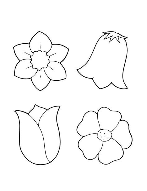 coloring pages of different flowers spring flower coloring pages flowers coloring sheet