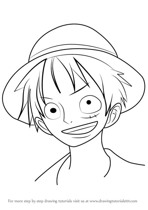 Monkey D Luffy Pencil Anime learn how to draw monkey d luffy from one one