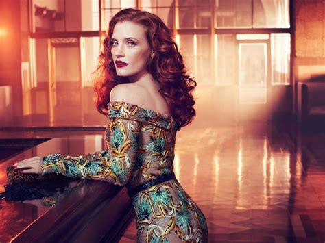 jessica chastain beautiful redhead actress hd  wallpaper