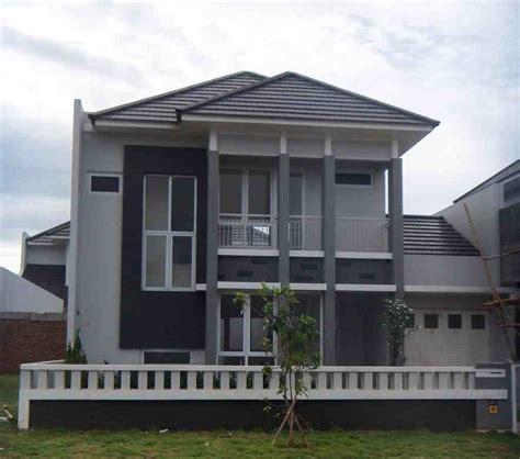 kombinasi warna cat luar rumah minimalis tampak depan