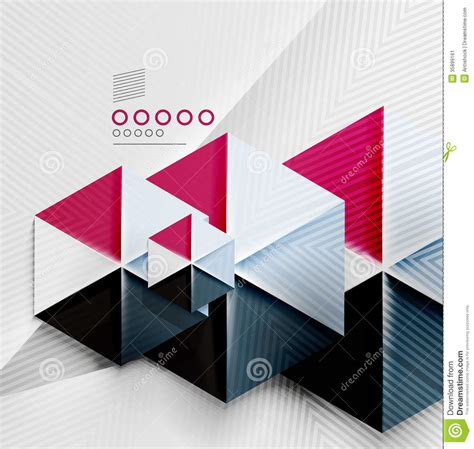 Geometric Shapes With Paper - hexagon business paper geometric shape stock image image