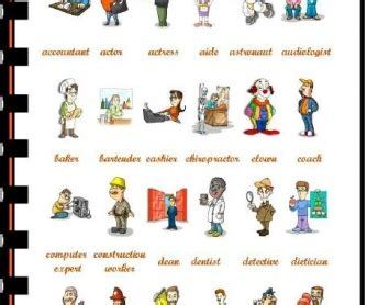 Jobs and Occupations Picture Dictionary