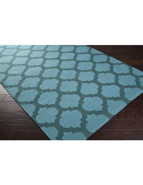 Teal Trellis Rug by Sea Blue And Teal Green Trellis Frontier Rug By Surya