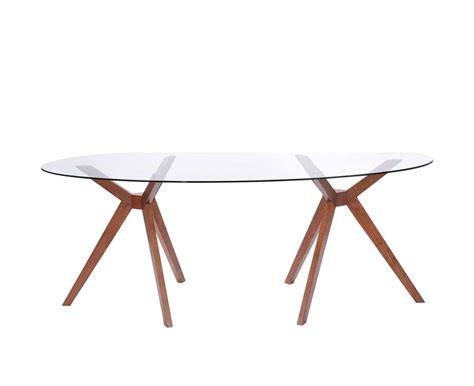 Glass Oval Dining Tables Oval Glass Dining Table Z090 Modern Dining