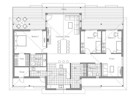 modern house ch86 floor plan amp images house plan