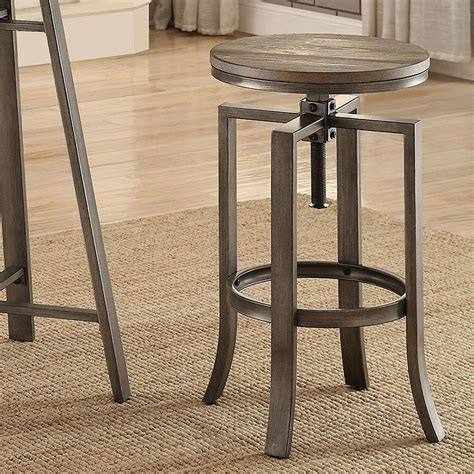 Industrial Bar Stool Set by Industrial Adjustable Bar Stool Set Of 2 Coaster