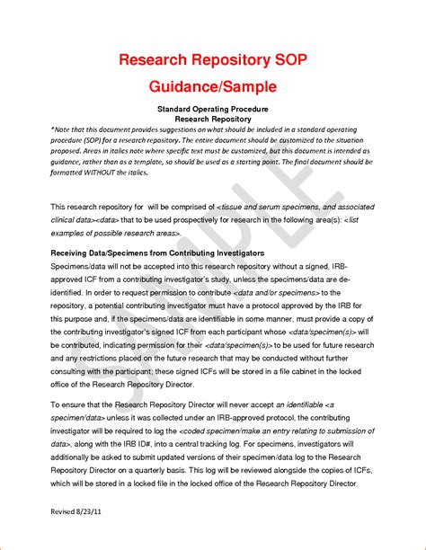 sle of sop template template of sop 28 images writing a standard operating
