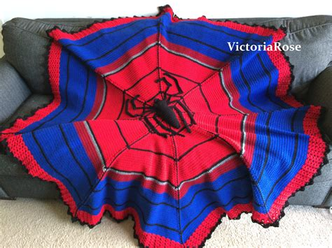 pattern for spiderman blanket crochet spiderman blanket pattern only