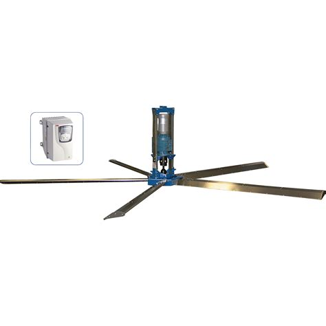 high cfm ceiling fan patterson high 5 high volume ceiling fan 24ft 384 363