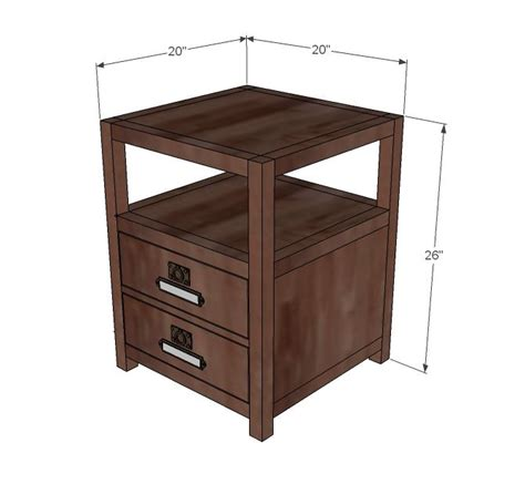 nightstand dimensions standard best 25 end table plans ideas on pinterest dyi end