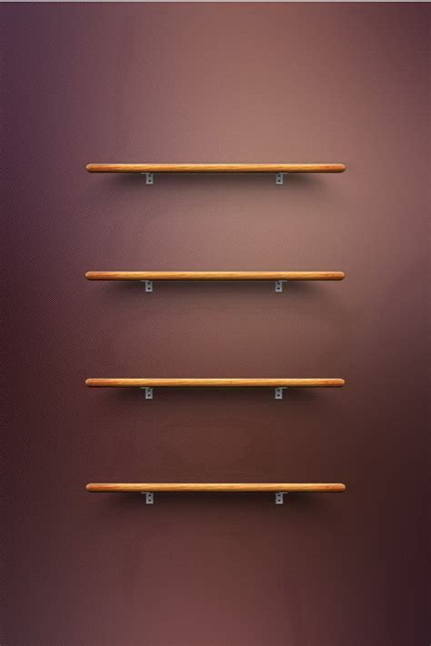 Iphone 4s Shelf Wallpaper by Wooden Shelves Wallpaper Free Iphone Wallpapers