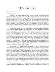 How To Write A Portfolio Essay by 1 Caballero Portfolio Reflective Essay Biol 3095