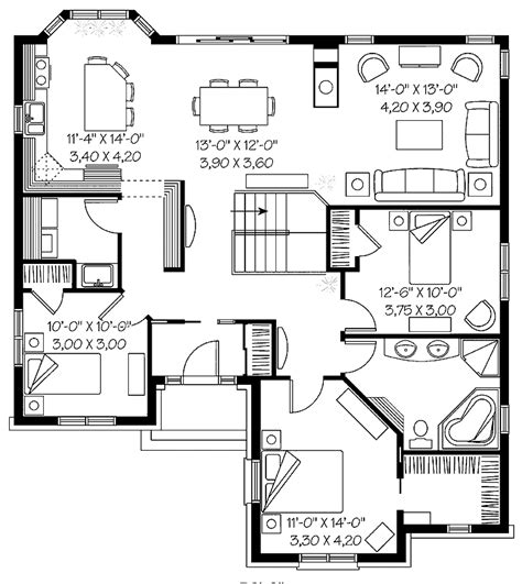 floorplan of a house 301 moved permanently