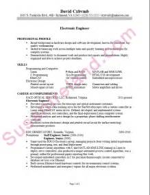 Resume Sles Electronics Engineering Resume Sle For An Electronics Engineer Susan Ireland Resumes