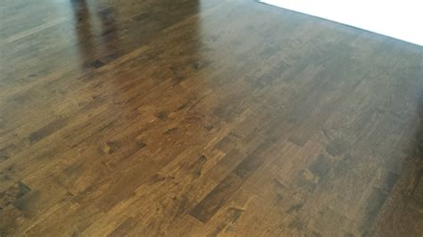 Dark Stained Color on Maple   Midwest Hardwood Floors Inc.