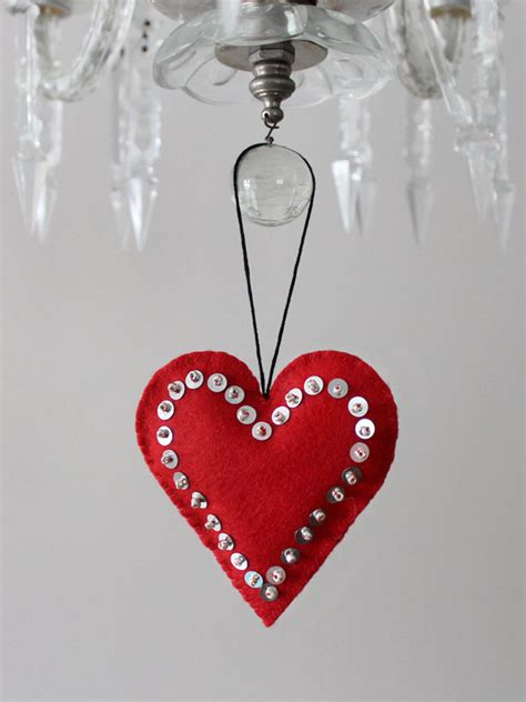 Heart Decorations For The Home by Handmade Hanging Heart Valentine Decorations Loulou Downtown