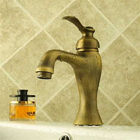 centerset antique brass bathroom sink faucet