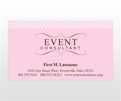event management business card template event consultant planner business cards promotion