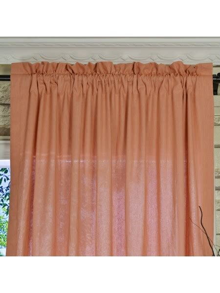 red and pink curtains qyk246see eos linen red pink solid rod pocket sheer curtains