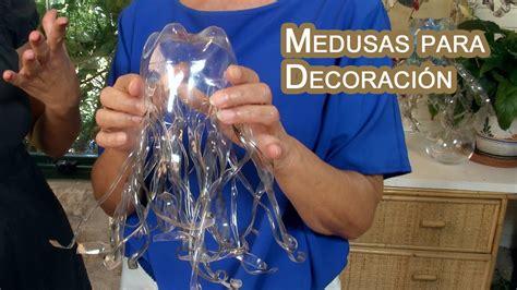 decoracion medusas colgantes de botellas pet youtube