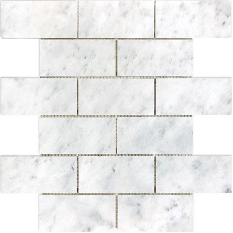 tile white venatino linear mosaic marble wall tile marble tile lowes tile design ideas