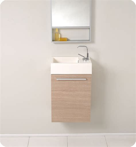Fresca Pulito Small Light Oak Modern Bathroom Vanity W Small Modern Bathroom Vanity