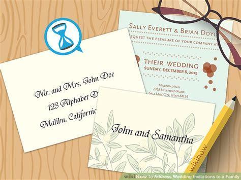 5 Ways to Address Wedding Invitations to a Family   wikiHow