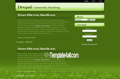 drupal green theme leaves green nature drupal theme free download