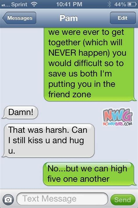 friend zone text message humor pinterest funny