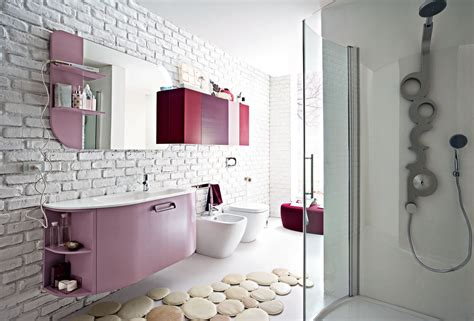 pink bathroom ideas for girls 2012 home interior design bagno piccolo arredo componibile e salvaspazio cose di casa