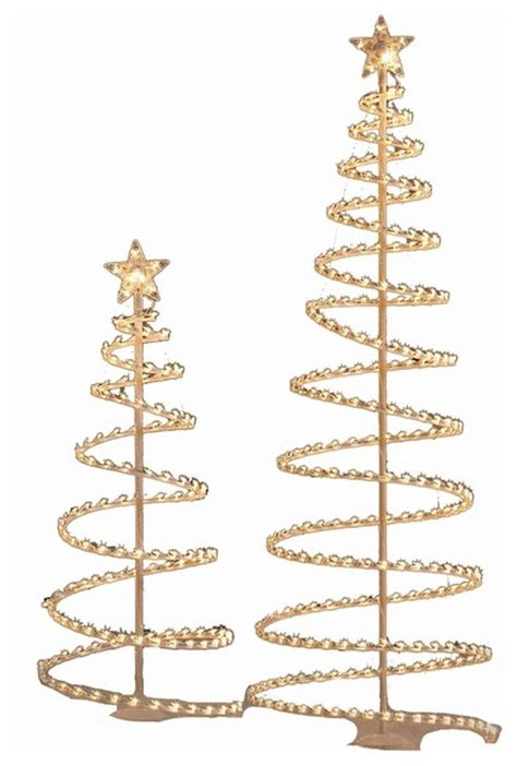 holiday living metal spiral christmas tree set contemporary holiday lighting by lowe s
