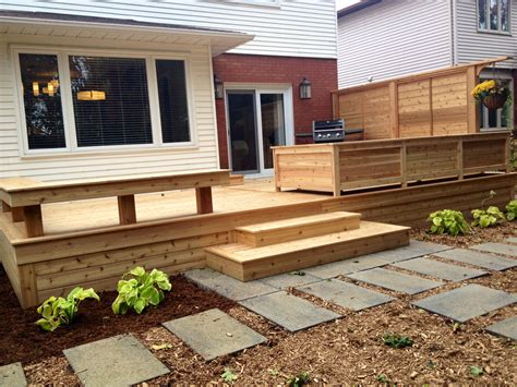 deck benches and planters finer things home and garden 187 deck makeover