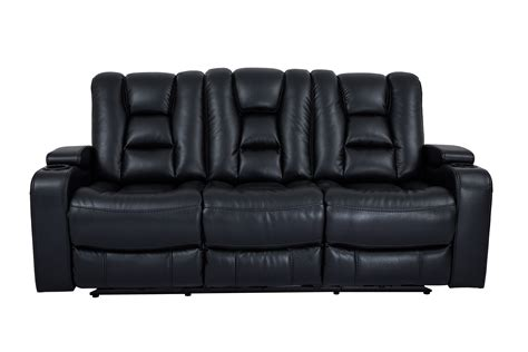 black reclining sofa and loveseat cheers black dual power reclining sofa with and light