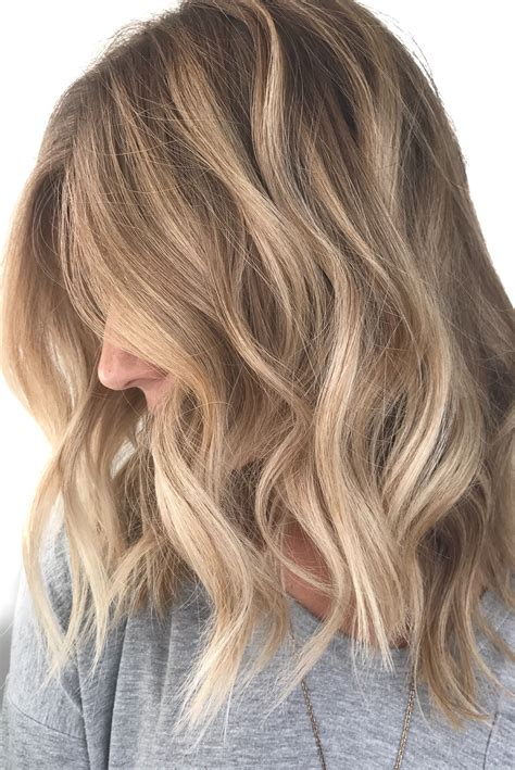 neutral hair color balayage highlights waves