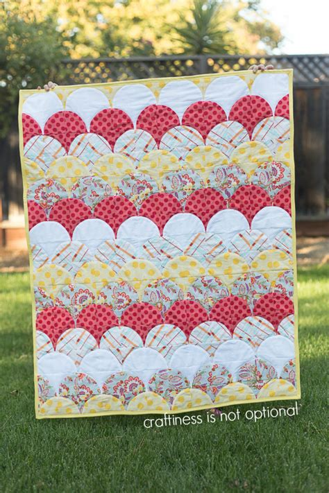Scallop Quilt Pattern by Scallop Baby Quilt
