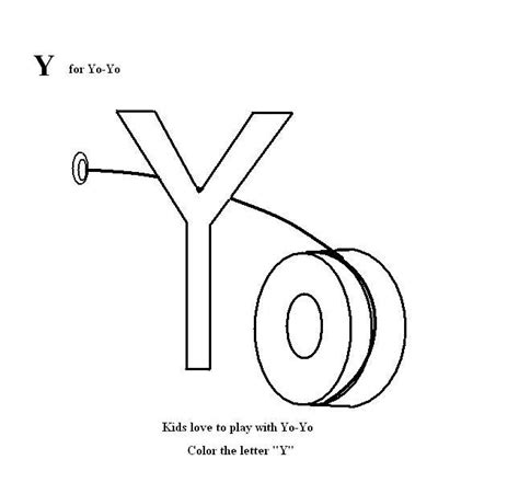Letter Y Coloring Pages For Preschoolers by 8 Best Images Of Letter Y Coloring Worksheet Preschool